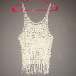A&F crochet top